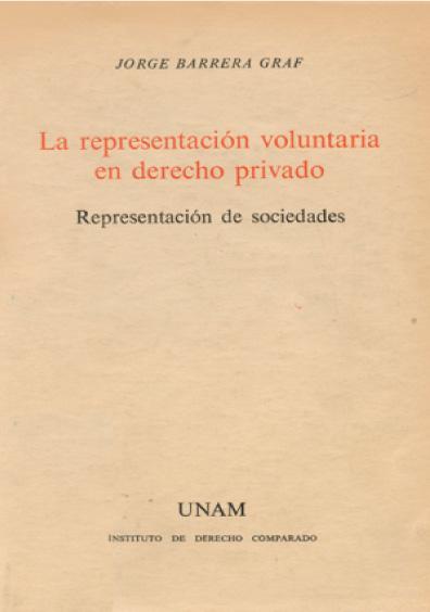La representación voluntaria en derecho privado. Representación de sociedades