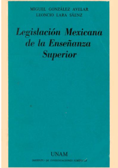 Legislación mexicana de la enseñanza superior