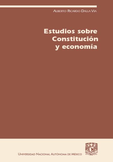 Estudios sobre Constitución y economía