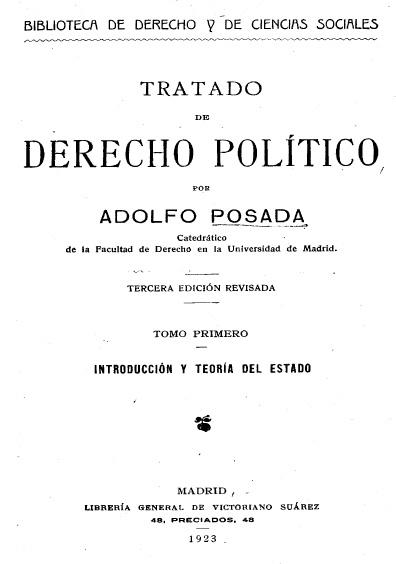 Tratado de derecho político, 3a. ed., t. I