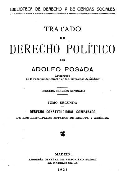 Tratado de derecho político, 3a. ed., t. II