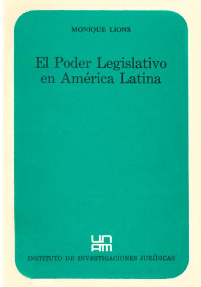 El Poder Legislativo en América Latina