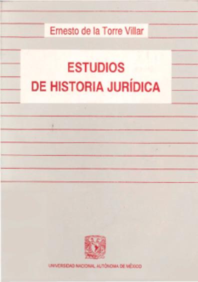 Estudios de historia jurídica