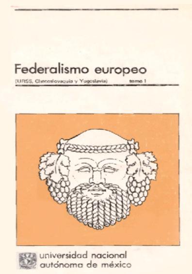 Federalismo europeo, t. I