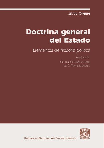 Doctrina general del Estado