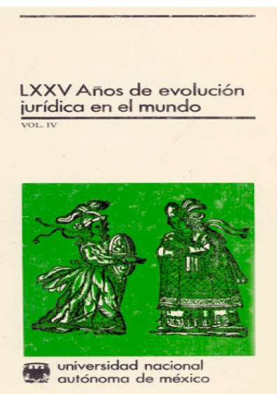 LXXV años de evolución jurídica en el mundo, vol. IV