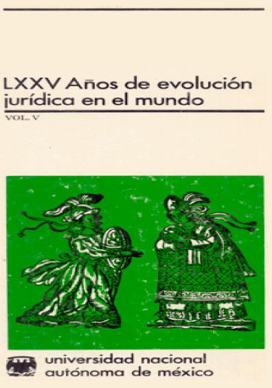 LXXV años de evolución jurídica en el mundo, vol. V