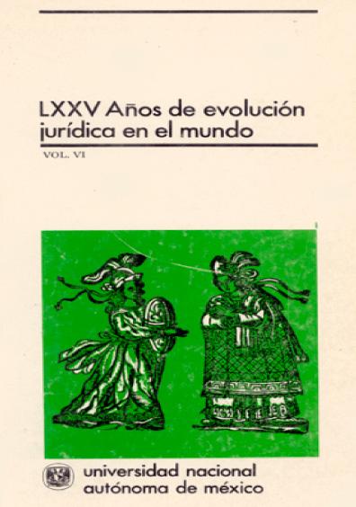 LXXV años de evolución jurídica en el mundo, vol. VI