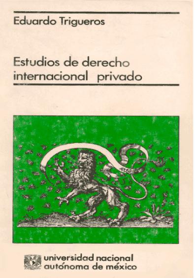 Estudios de derecho internacional privado