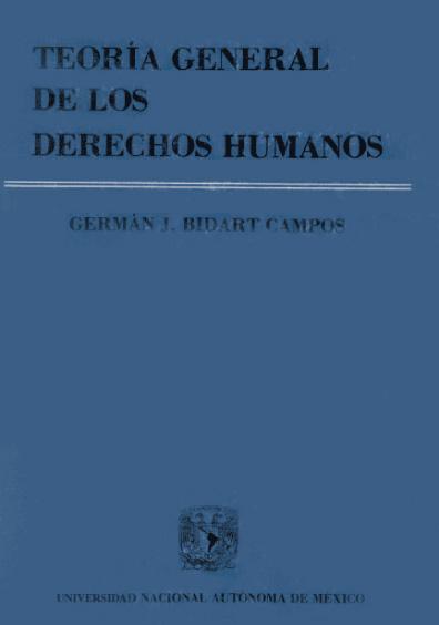 Teoría general de los derechos humanos