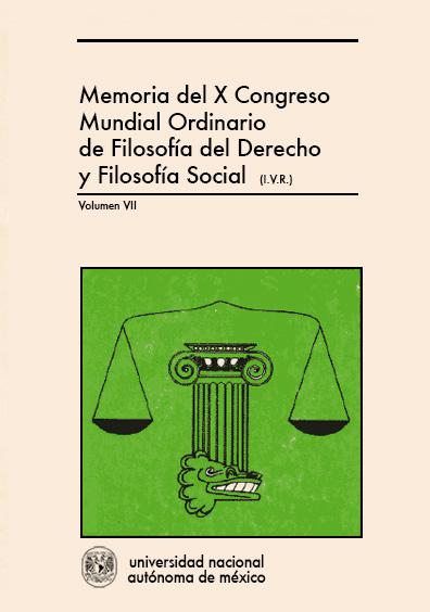 Filosofía del derecho y filosofía económica y política. Memoria del X Congreso Mundial Ordinario de Filosofía del Derecho y Filosofía Social, vol. VII