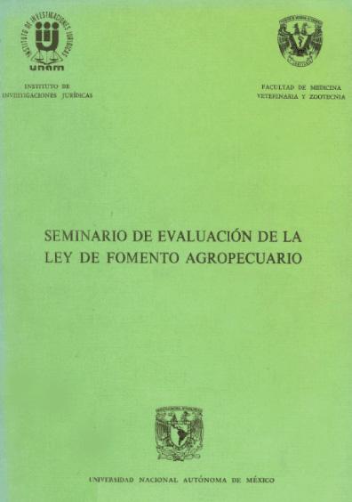 Seminario de Evaluación de la Ley de Fomento Agropecuario