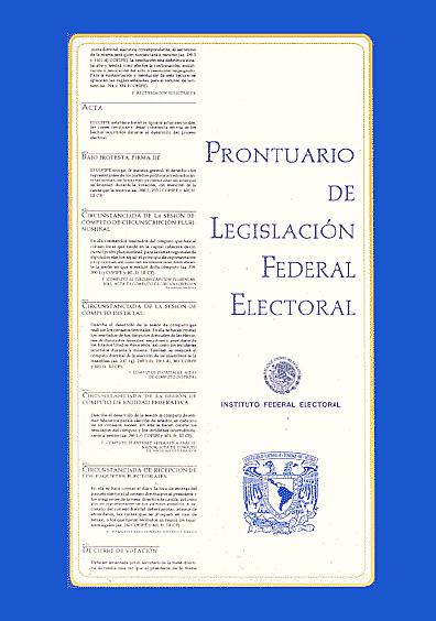 Prontuario de legislación federal electoral