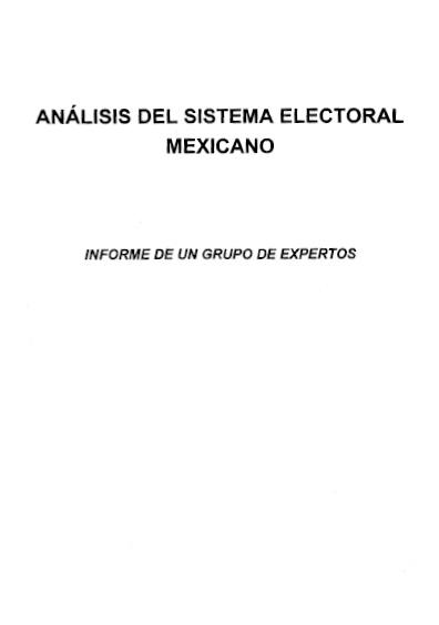 Análisis del sistema electoral mexicano