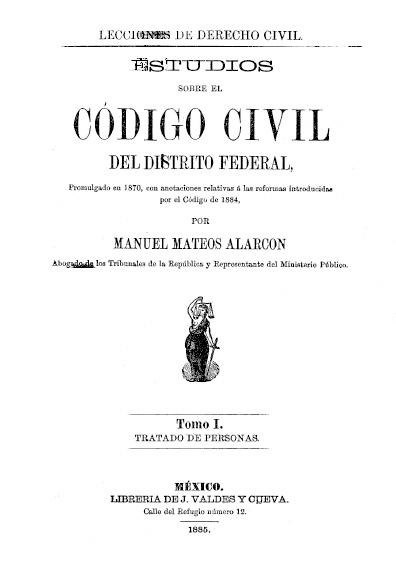 Estudios sobre el Código Civil del Distrito Federal, t. I