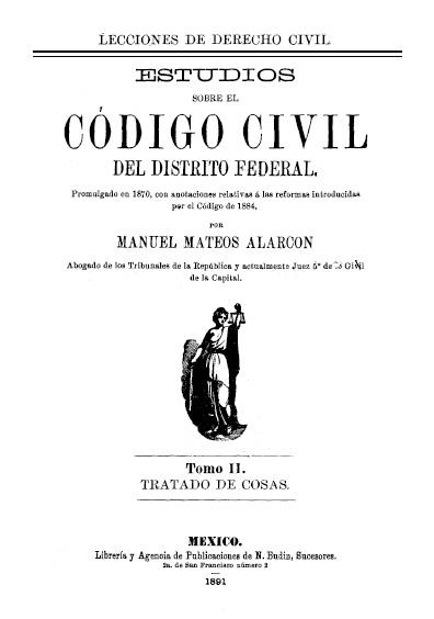 Estudios sobre el Código Civil del Distrito Federal, t. II