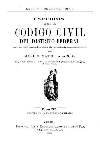 Estudios sobre el Código Civil del Distrito Federal,  t. III