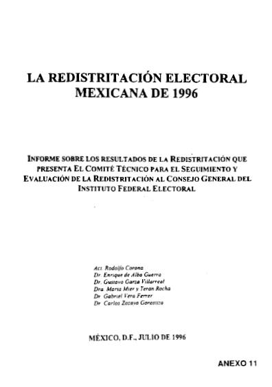 Redistritación electoral mexicana de 1996