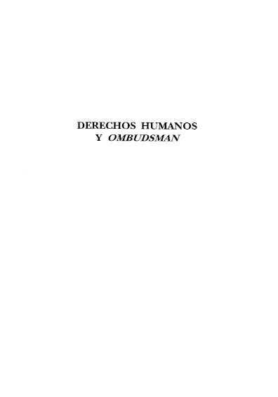 Derechos humanos y ombudsman