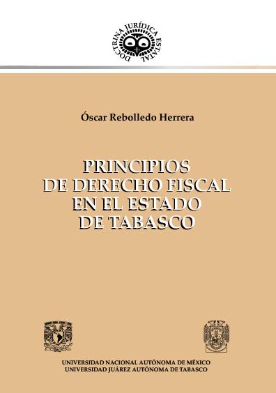 Principios de derecho fiscal en el estado de Tabasco
