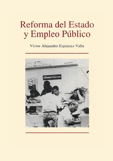 Reforma del Estado y empleo público