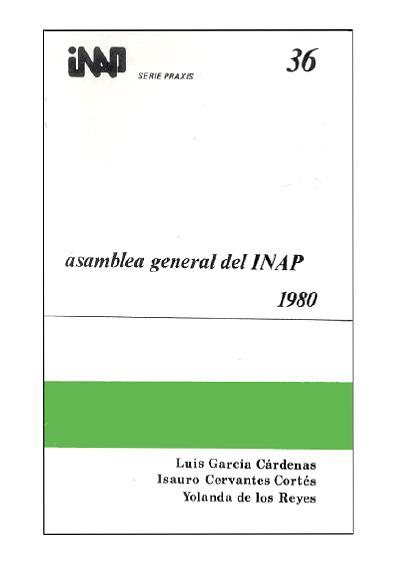 Praxis 036. Asamblea General del INAP, 1980