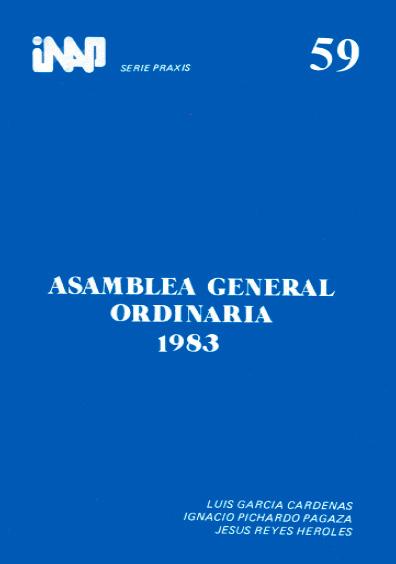 Praxis 059. Asamblea General Ordinaria 1983