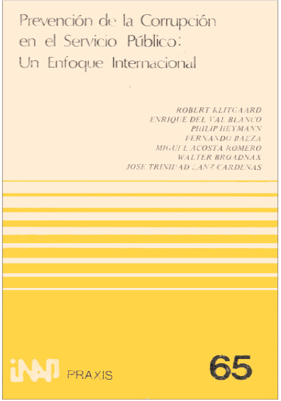 Praxis 065. Prevención de la corrupción en el servicio público: un enfoque internacional
