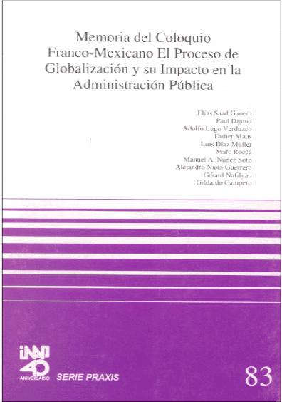 Praxis 083. Memoria del Coloquio Franco-Mexicano