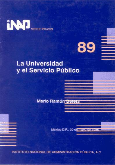Praxis 089. La universidad y el servicio público