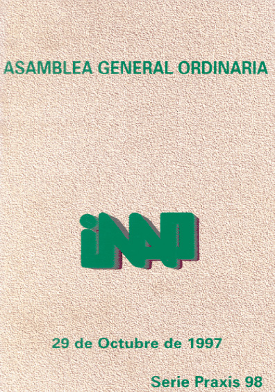 Praxis 098. Asamblea General Ordinaria INAP, 29 de octubre de 1997
