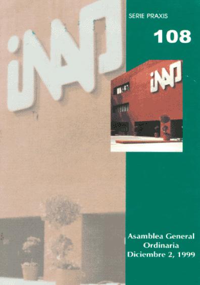 Praxis 108. Asamblea Ordinaria, diciembre 2, 1999