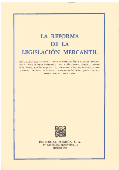La reforma de la legislación mercantil