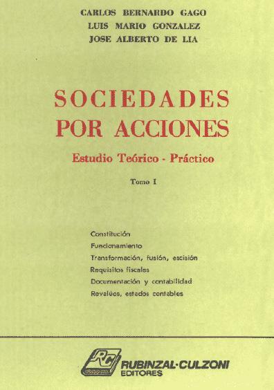 Sociedades por acciones, t. I