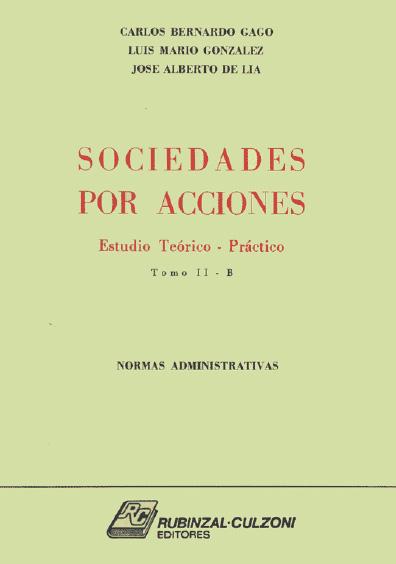 Sociedades por acciones, t. II-B