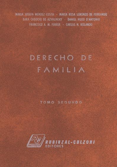 Derecho de familia, t. II
