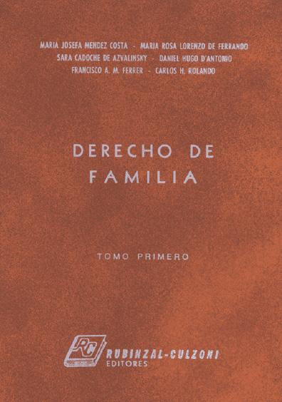 Derecho de familia, t. I
