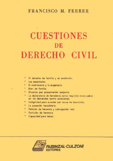 Cuestiones de derecho civil. Familia y sucesiones