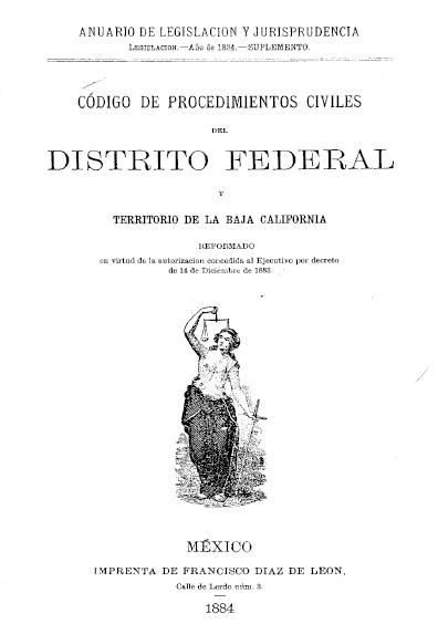 Código de Procedimientos Civiles del Distrito Federal y Territorio de la Baja California