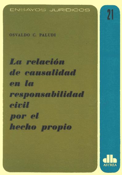 La relación de causalidad en la responsabilidad civil por el hecho propio