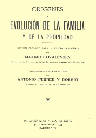 Orígenes y evolución de la familia y la propiedad