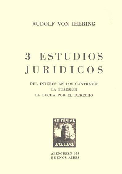 Tres estudios jurídicos