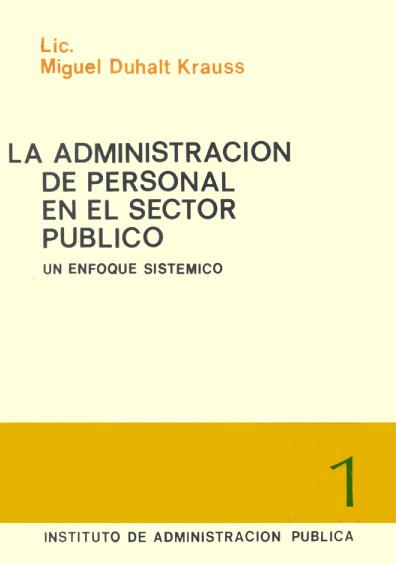 La administración de personal en el sector público