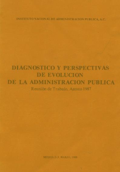 Diagnóstico y perspectiva de evolución de la administración pública