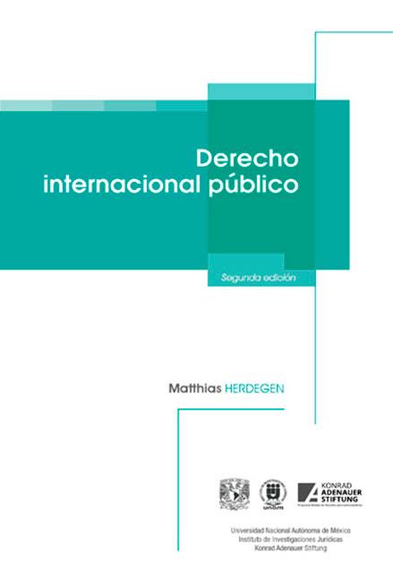 Derecho internacional público, 2a. edición