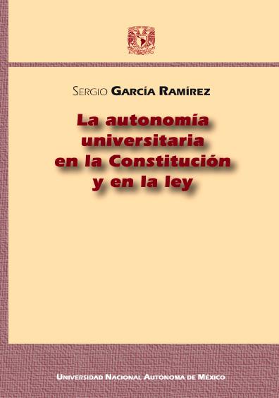 La autonomía universitaria en la Constitución y en la ley