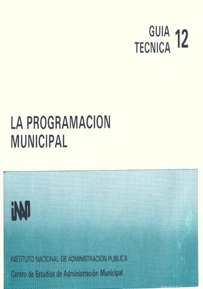 Guía técnica 12. La programación municipal