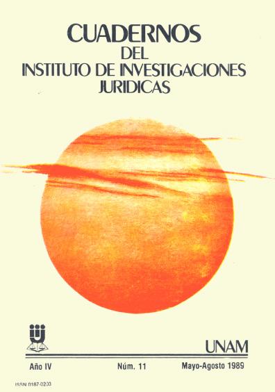 Cuadernos del Instituto de Investigaciones Jurídicas. Sociología jurídica