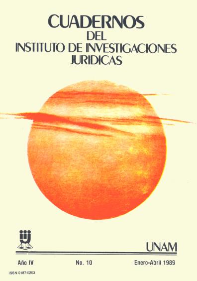 Cuadernos del Instituto de Investigaciones Jurídicas. Problemas actuales de las ciencias penales