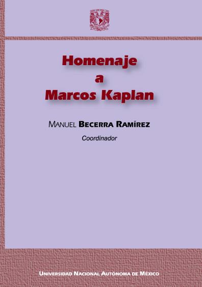Homenaje a Marcos Kaplan